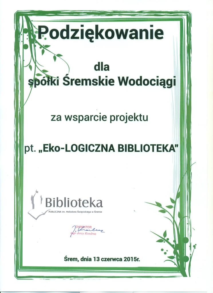 podzękowanie Biblioteka2